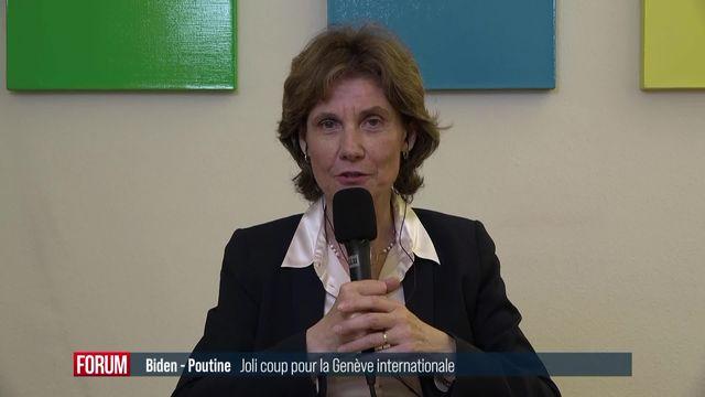 Anne Emery-Torracinta réagit à l'annonce du sommet entre Joe Biden et Vladimir Poutine à Genève (vidéo) [RTS]
