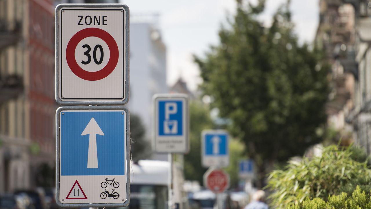 Une zone 30 à Zurich. [Ennio Leanza - Keystone]