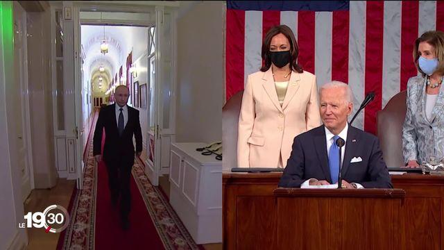 Joe Biden rencontrera Vladimir Poutine le 16 juin à Genève. Ce sera la première rencontre entre les deux chefs d'Etat. [RTS]
