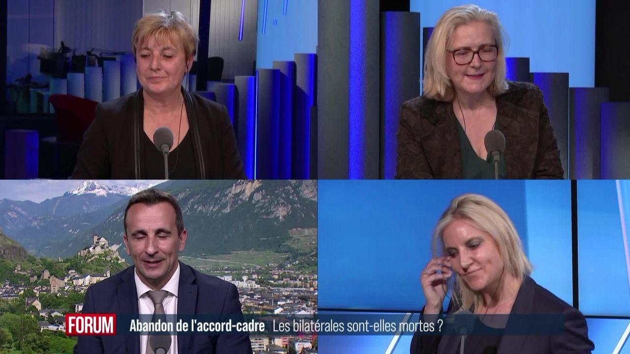 Le débat - Quelles conséquences après la fin des négociations sur l'accord-cadre? [RTS]