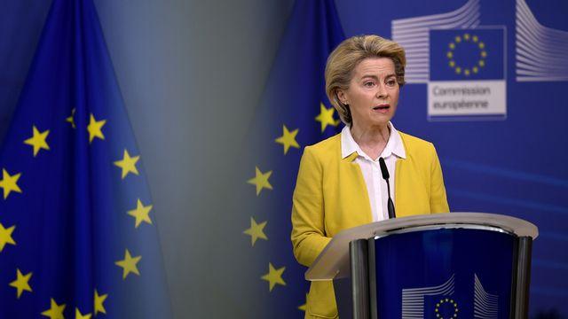 La présidente de la Commission européenne Ursula von der Leyen. [John Thys - Pool/AP/Keystone]