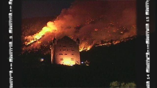 Les incendies qui ont marqué la Suisse [RTS]