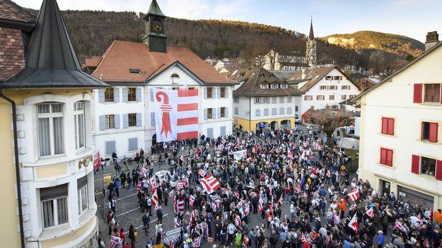 Le canton de Berne a lancé les travaux préparatoires pour le transfert de Moutier dans le canton du Jura. [Jean-Christophe Bott - KEYSTONE]