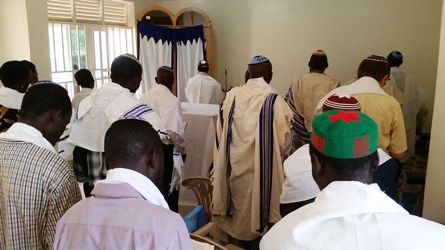 membres de la communauté juive d'Abayudaya en Ouganda. [Michael O'HAGAN - AFP]