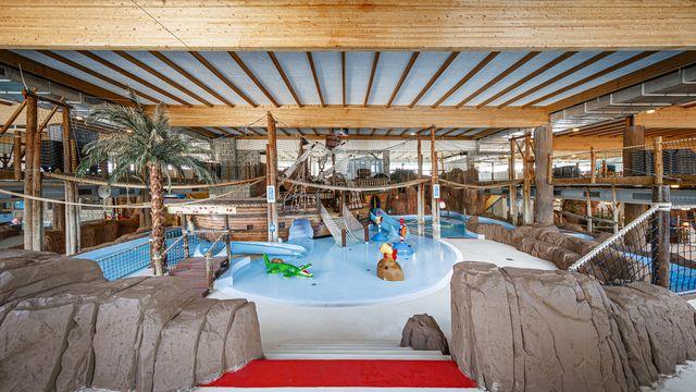 Aquaparc, le principal parc aquatique de Suisse romande, au Bouveret (VS). [Valentin Flauraud - Keystone]