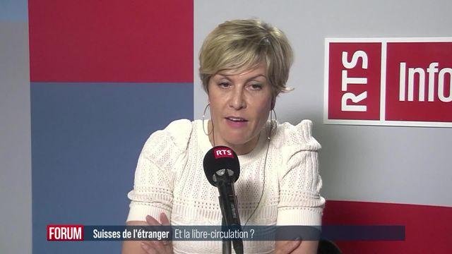 L'abandon de l'accord-cadre aura des conséquences sur les Suisses de l'étranger: Interview d'Ariane Rustichelli [RTS]