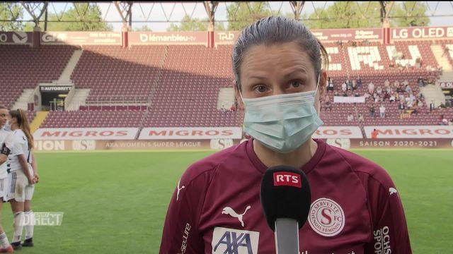 28e journée, Bâle - Servette Chênois (2-2): interview de Maeva Sarrasin après la rencontre [RTS]