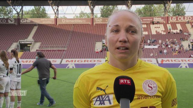 28e journée, Bâle - Servette Chênois (2-2): interview de Gaëlle Thalmann après la rencontre [RTS]
