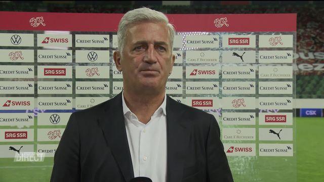 Suisse - USA (2-1): interview du sélectionneur Vladimir Petkovic [RTS]