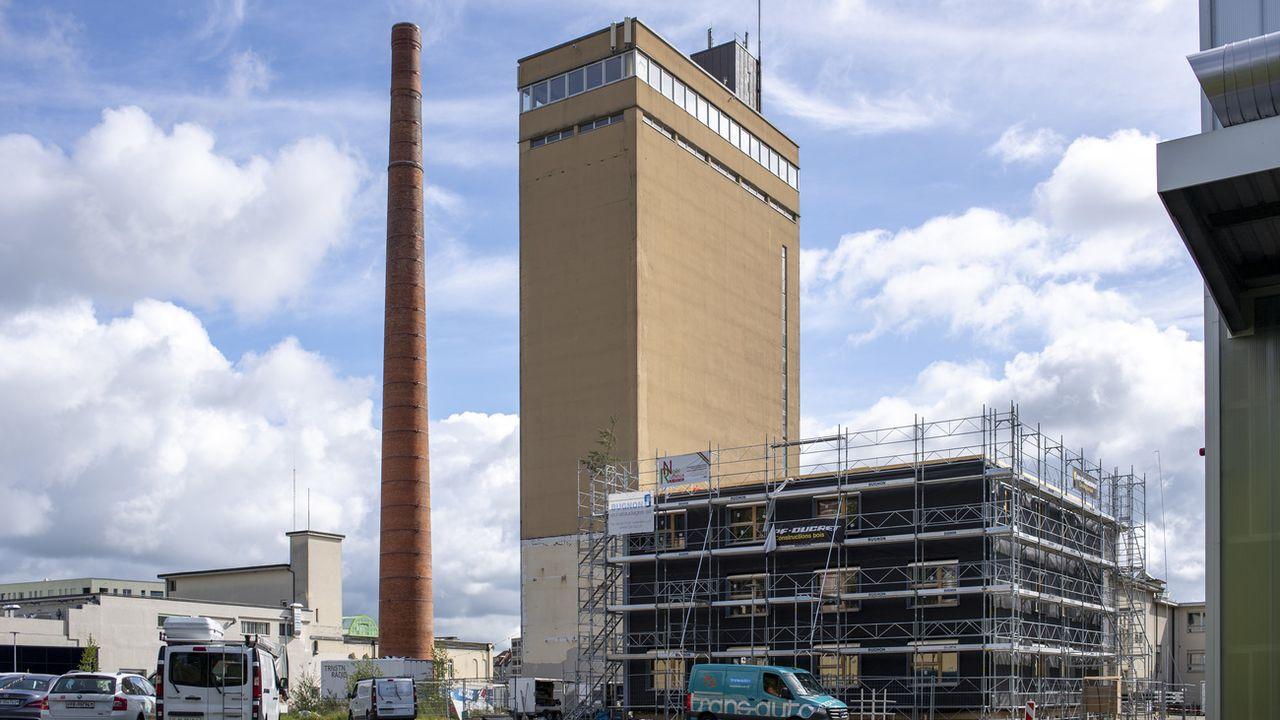 À Fribourg, le groupe JPF finance en grande partie la campagne sur le site de Bluefactory [Marcel Bieri - Keystone]