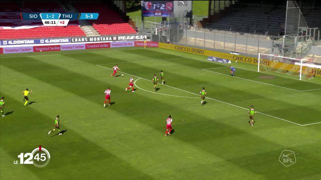 Le FC Sion a conservé hier sa place en Super League et l'a fêté dignement. [RTS]