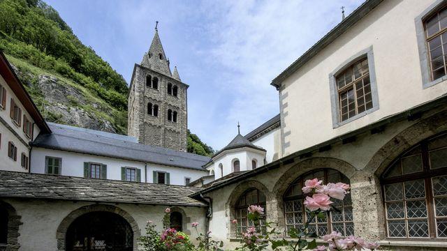 L'Abbaye de Saint-Maurice en Valais. [Olivier Maire - Keystone]