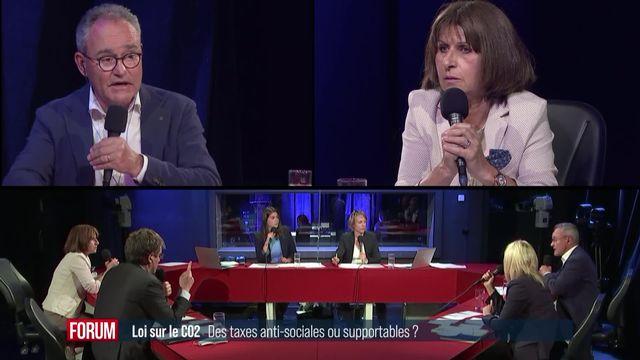 Le débat sur la loi CO2: des taxes anti-sociales ou supportables? [RTS]