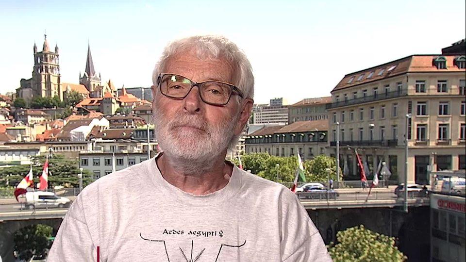 La presencia del mosquito tigre es alarmante en Ginebra y Valais.  Explicaciones de Daniel Scherkes. [RTS]