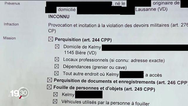 Trois militants climatiques vaudois ont été perquisitionnés et interrogés par la police fédérale [RTS]