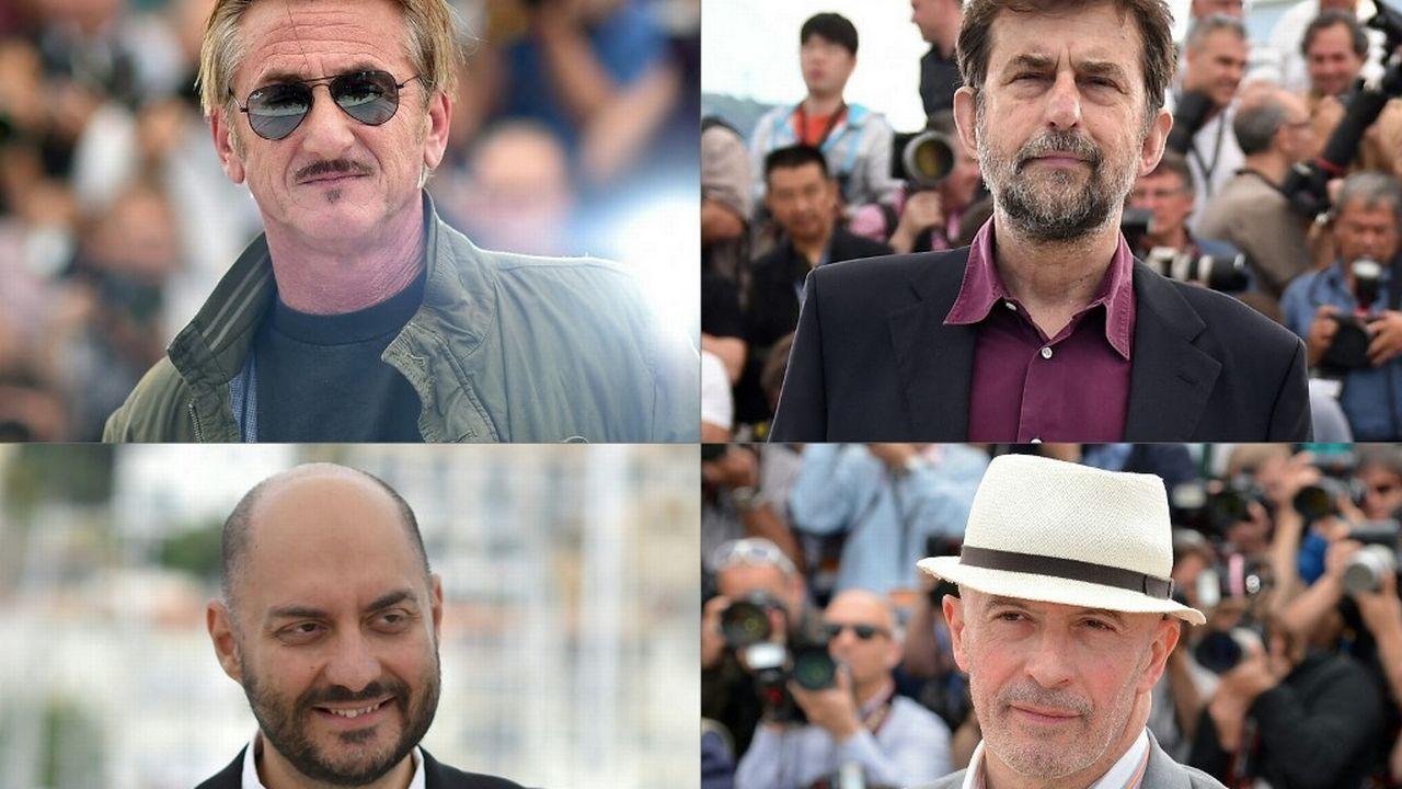 Les réalisateurs Sean Penn,, Nanni Moretti, Kirill Serebrennikov et Jacques Audiard sont en compétition officielle au Festival de Cannes 2021. [ALBERTO PIZZOLI, LOIC VENANCE, Anne-Christine POUJOULAT - AFP]