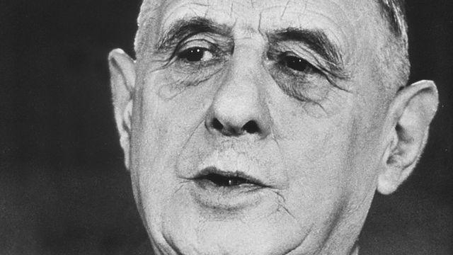 Le général Charles de Gaulle. [RTS]