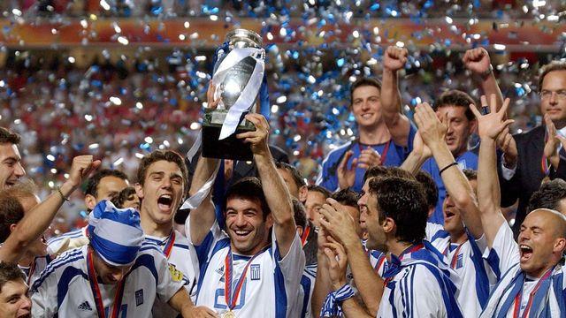 La Grèce, incroyable championne d'Europe en 2004... [Keystone]