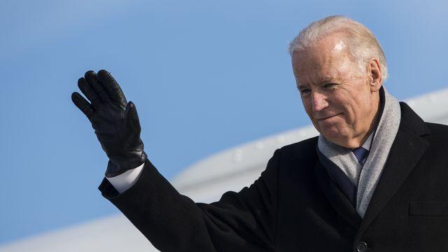 Joe Biden en 2016 à Zurich alors qu'il se rendait au WEF de Davos. [Ennio Leanza - Keystone]