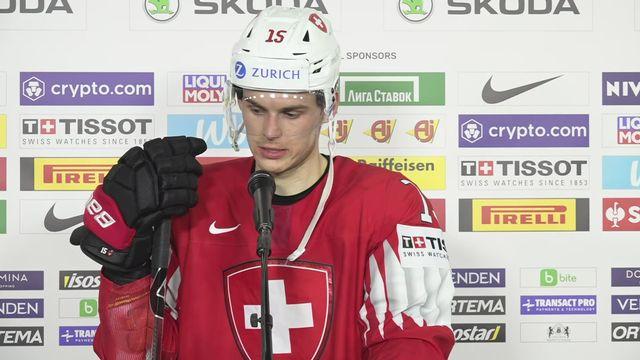 1-4, Suisse - Allemagne (2-3 tb): Gregory Hofmann à l'interview [RTS]