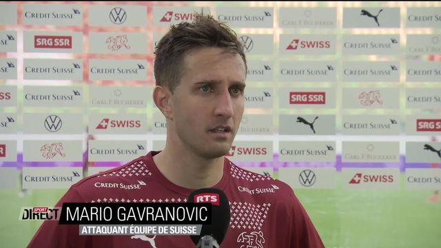 La réaction de Gavranovic, auteur d'un triplé [RTS]
