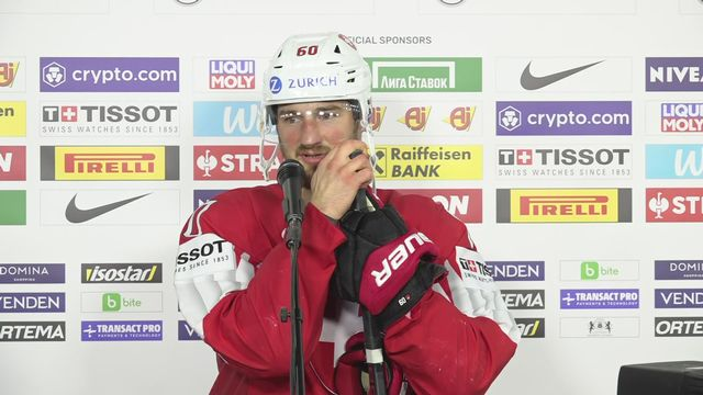 1-4, Suisse - Allemagne (2-3 tb): Tristan Scherwey à l'interview [RTS]