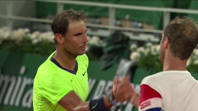 2ème tour, R.Nadal (ESP) - R.Gasquet (FRA) (6-0, 7-5, 6-2): Rafa élimine le dernier représentant français [RTS]