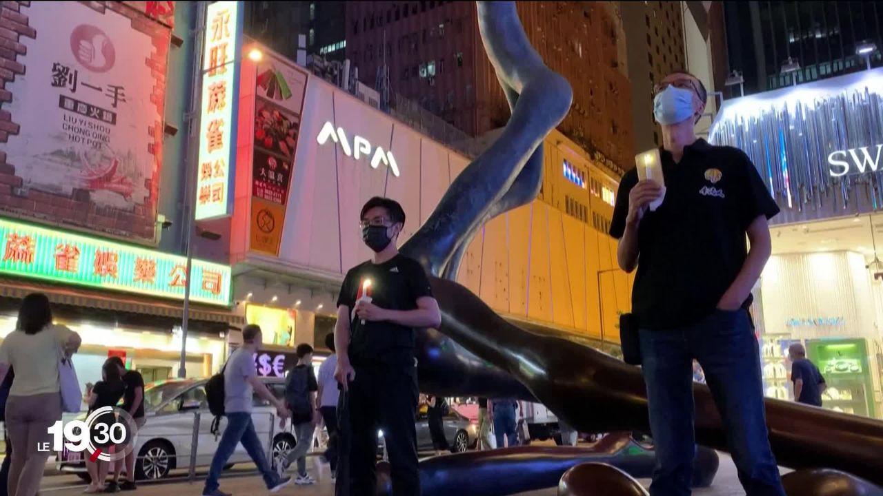 Hong Kong: arrestations en marge des commémorations interdites des événements de Tian'anmen [RTS]