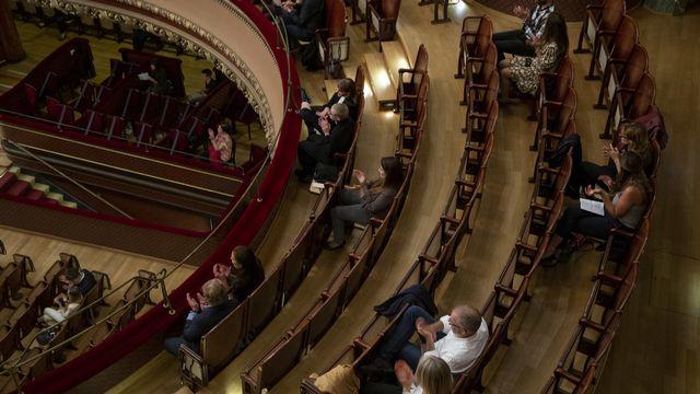 Le tout premier concert test dans le canton de Genève a été organisé au Victoria Hall. [Salvatore Di Nolfi - Keystone]