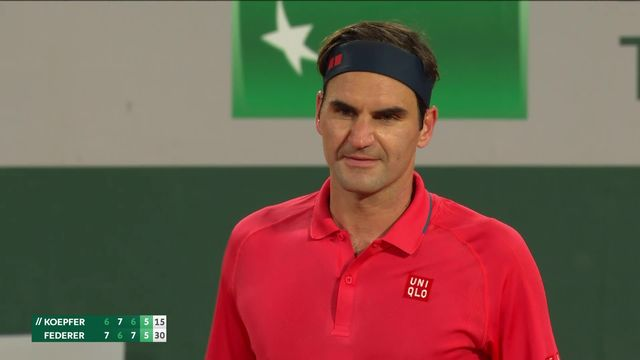 3e tour, D.Köpfer (GER) – R.Federer (SUI) (6-7, 7-6, 6-7, 5-7): le Bâlois vient à bout de Köpfer et se hisse en 8es [RTS]