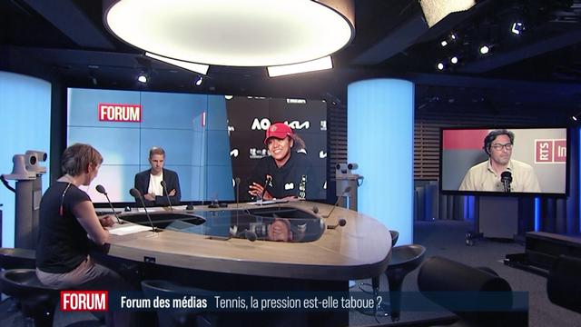 Débat entre Laurent Favre, chef de la rubrique sports au Temps, Simon Meier, journaliste au Sport Center de Tamedia et Caroline Reymond, journaliste à RTS Sport. [RTS]