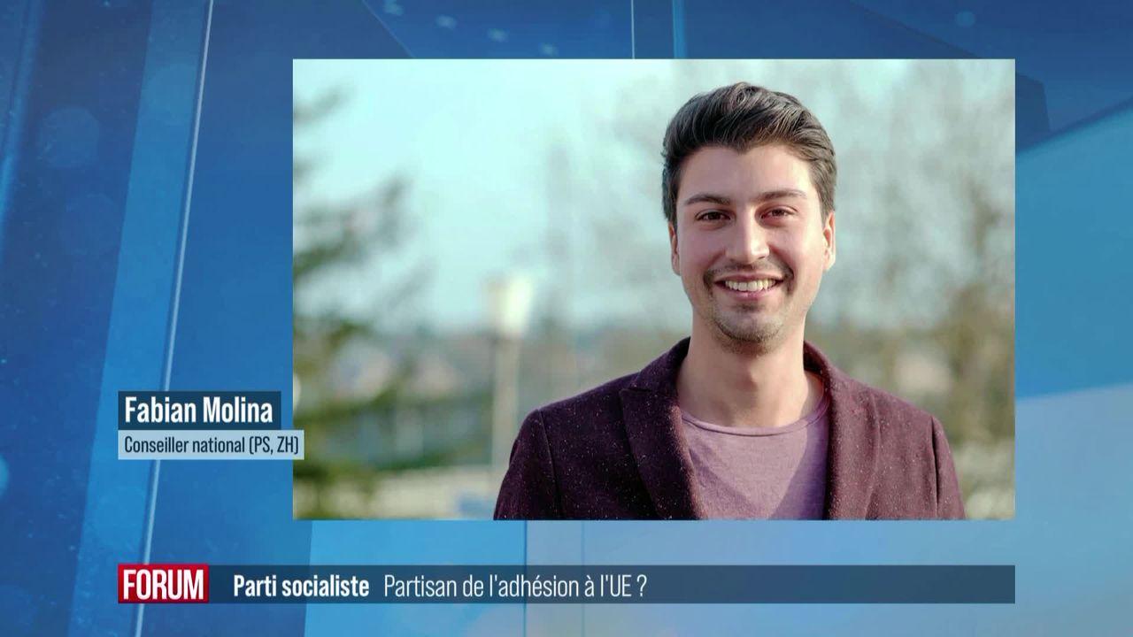 Le Parti socialiste est-il partisan d'une adhésion à l'UE? Interview de Fabian Molina [RTS]