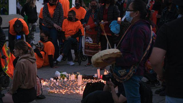 Rassemblement à Nathan Phillips Square [Robin Pueyo - Hans Lucas via AFP]