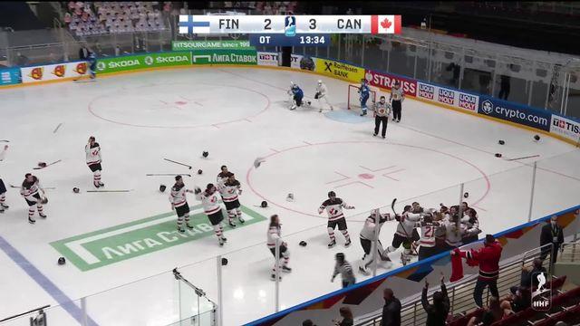 Finale, Canada - Finlande (3-2): tous les buts du match lors du sacre canadien [RTS]