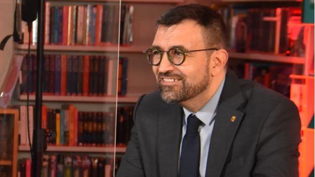 Hervé Gullotti lors d'un débat organisé par la RTS. [Gaël Klein - RTS]