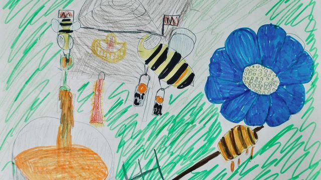 """""""Le miel"""", un dessin réalisé par Emilie. [Emilie]"""