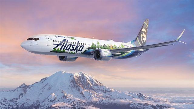 Boeing 737 de la compagnie Alaska airlines, destiné à effectuer des mesures de CO2 [Boeing]