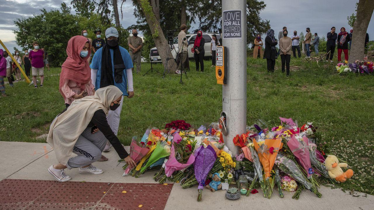 """Quatre membres d'une famille musulmane ont été tués au Canada lors d'une attaque """"préméditée"""". [Brett Gundlock - Keystone/AP]"""