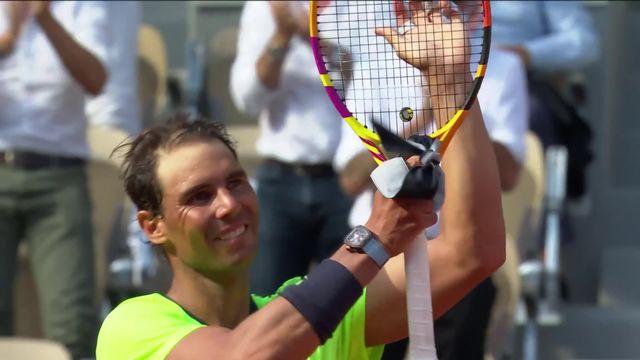 1-4, R.Nadal (ESP) – D.Schwartzman (ARG) (6-3, 4-6, 6-4, 6-0): Rafa lâche son premier set de la quinzaine et attend Djoko en demie [RTS]