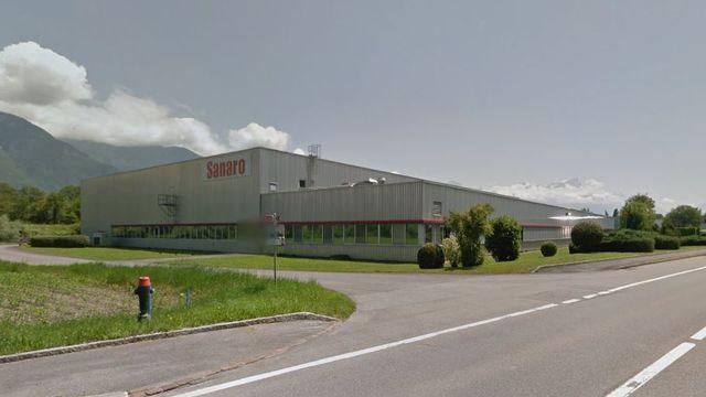 L'entreprise Sanaro, spécialisée dans la production de compléments alimentaires et d'édulcorants, envisage de fermer son site de Vouvry (VS). [Google StreetView]