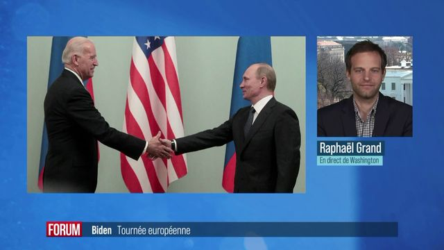 Première visite en Europe du président américain Joe Biden [RTS]