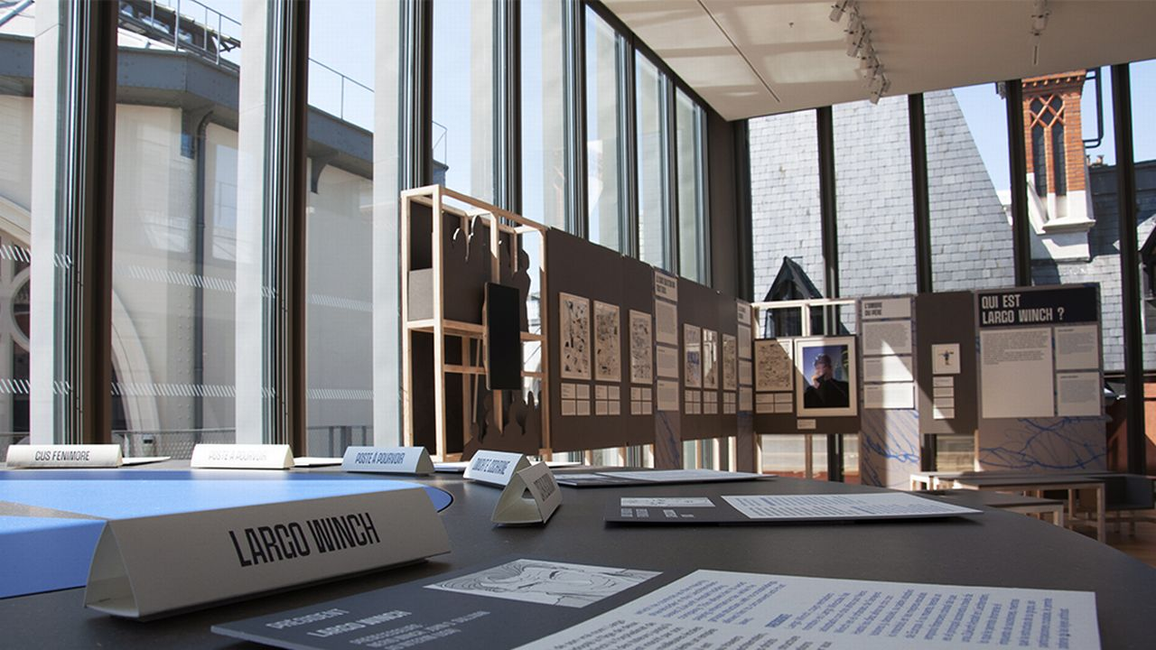 """Une image de l'exposition """"Largo Winch : aventurier de l'économie"""", à la Citéco de Paris. [Citéco]"""