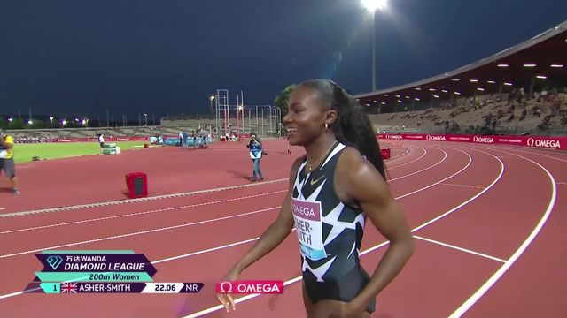Florence (ITA), 200m dames: Asher-Smith (GBR) s'impose, Kambundji (SUI) 3ème et Atcho (SUI) 8ème [RTS]
