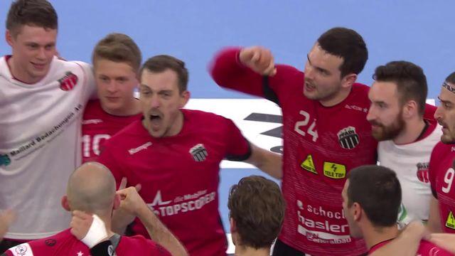 Finale messieurs, match 1: Winterthour - Schaffhouse (28-25): le Pfadi remporte ce 1er duel [RTS]