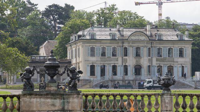 La villa La Grange, dans le quartier des Eaux-Vives à Genève. [Martial Trezzini - Keystone]