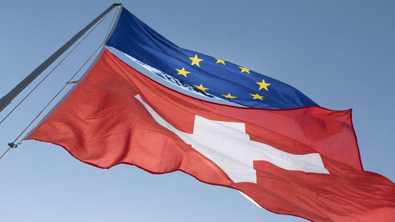 La Suisse devrait pouvoir participer à tous les programmes de l'UE en tant que pays tiers d'ici 2027.  [GAETAN BALLY - KEYSTONE]
