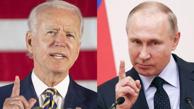 Joe Biden et Vladimir Poutine. [Jim Watson/Grigory Dukor/AFP - AFP]