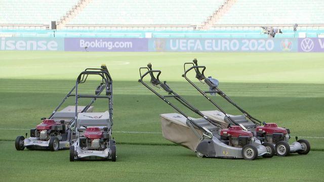 UEFA Euro 2020: pelouse à Bakou en parfait état avant Suisse - Pays de Galles [RTS]