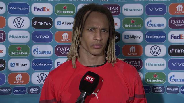 Pays de Galles- Suisse (1-1): la réaction de Mbabu au micro de RTSsport [RTS]