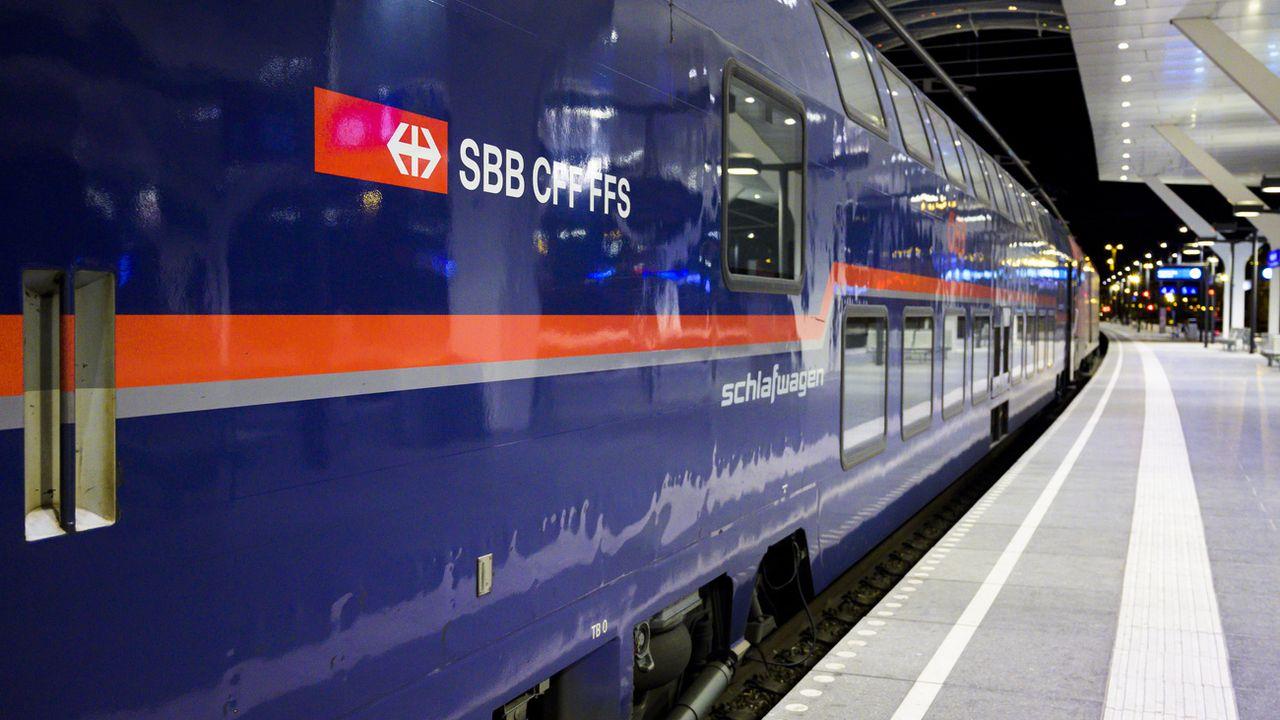 Les CFF veulent offrir 25 destinations par trains de nuit d'ici 2025. [Léandre Duggan - Keystone]